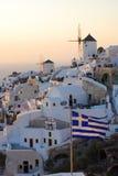 Opinião de Santorin Fotografia de Stock
