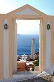 Opinião de Santorin Imagens de Stock Royalty Free