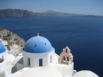 Opinião de Santorini fotografia de stock royalty free