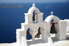 Opinião de Santorini imagem de stock