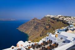 Opinião de Santorini - Greece Imagens de Stock Royalty Free