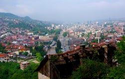 Opinião de Sarajevo Foto de Stock
