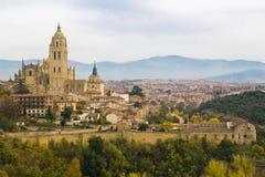 Opinião de Segovia Fotos de Stock Royalty Free