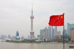 Opinião de Shanghai imagens de stock