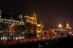 Opinião de Shanghai o Rio Huangpu Imagens de Stock Royalty Free