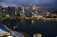 Opinião de Singapura Marina Bay Foto de Stock Royalty Free