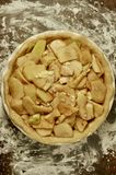 Opinião de Smith Apple Pie Tart Overhead da avó Fotografia de Stock Royalty Free