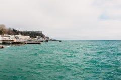 Opinião de Sochi do porto do mar Imagens de Stock