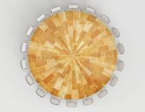 opinião de tampo da mesa de madeira Imagem de Stock Royalty Free