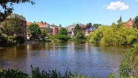 Opinião de Tilburg, lago Fotos de Stock Royalty Free