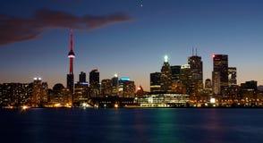 Opinião de Toronto na noite Fotografia de Stock Royalty Free