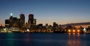 Opinião de Toronto na noite Fotos de Stock Royalty Free