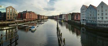Opinião de Trondheim Foto de Stock Royalty Free