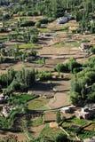 Opinião de vale verde da cidade de Leh, Índia Fotos de Stock Royalty Free