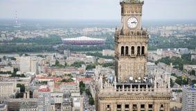 Opinião de Varsóvia, Poland Fotos de Stock Royalty Free