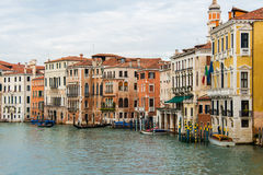 Opinião de Veneza em um brilhante Imagens de Stock Royalty Free