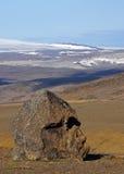 Opinião de Viking em Hofsjökull foto de stock