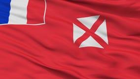 Opinião de Wallis And Futuna Flag Closeup ilustração do vetor