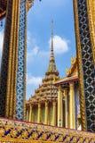 Opinião de Wat Phra Kaew Foto de Stock
