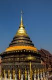 Opinião de Wat Phra That Lampang Luang em Lampang, Tailândia Fotos de Stock Royalty Free