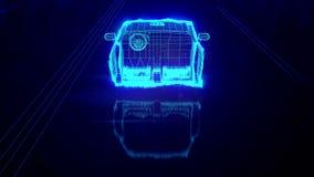 Opinião de Wireframe do carro da cidade - conceptual ilustração do vetor