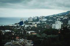 Opinião de Yalta do teleférico Fotos de Stock Royalty Free