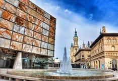 Opinião de Zaragosa da catedral Foto de Stock Royalty Free