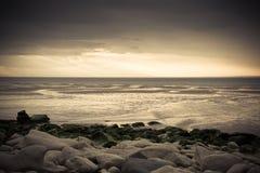 Opinião Desolated do beira-mar Fotos de Stock Royalty Free