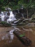 Opinião despercebida da natureza da cachoeira de Tailândia da paisagem fotos de stock