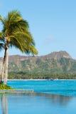 Opinião Diamond Head, Waikiki, Imagem de Stock Royalty Free