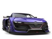 Opinião dianteira automobilístico super roxa da insígnia real impressionante ilustração do vetor