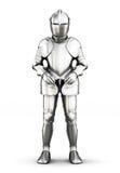 Opinião dianteira da armadura isolada no fundo branco rendição 3d Imagem de Stock