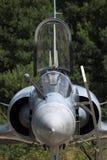 Opinião dianteira da cabina do piloto da miragem Fotografia de Stock