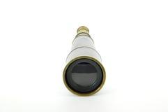 Opinião dianteira de bronze do telescópio Imagens de Stock
