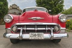 Opinião dianteira de Chevrolet Bel Air 1953 Foto de Stock