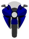 Opinião dianteira de competência da motocicleta do esporte clássico isolada ilustração stock