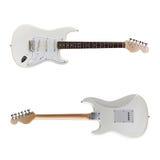 Opinião dianteira de guitarra elétrica, traseira Fotos de Stock