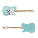 Opinião dianteira de guitarra elétrica, traseira Imagens de Stock