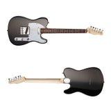 Opinião dianteira de guitarra elétrica, traseira Fotografia de Stock