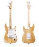Opinião dianteira de guitarra elétrica, traseira Imagem de Stock Royalty Free