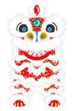 Opinião dianteira de Lion Dance - Lion Dance é a cultura tradicional chinesa de ano novo ilustração do vetor