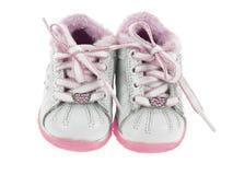 Opinião dianteira de sapatas de bebê imagens de stock royalty free