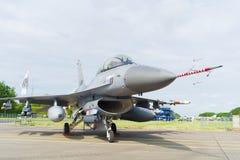 Opinião dianteira do avião de combate F16 Fotos de Stock Royalty Free