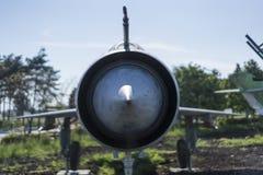 Opinião dianteira do avião militar Imagem de Stock