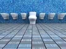 Opinião dianteira do banheiro Foto de Stock Royalty Free
