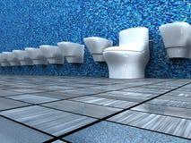 Opinião dianteira do banheiro Imagem de Stock