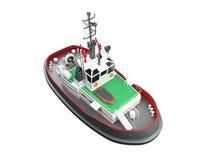 Opinião dianteira do bote ilustração stock