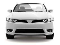 Opinião dianteira do carro branco compacto Fotografia de Stock