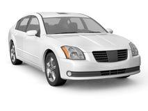 Opinião dianteira do carro branco superior da classe Imagens de Stock Royalty Free