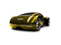 Opinião dianteira do carro super do ouro ilustração stock